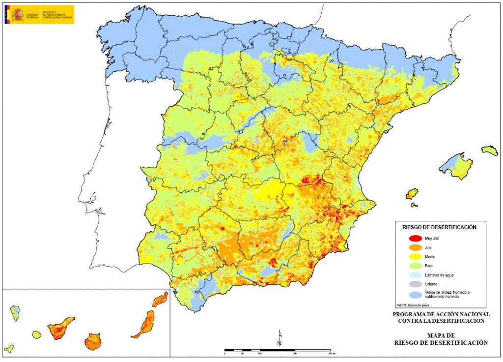 desertificación tierras España